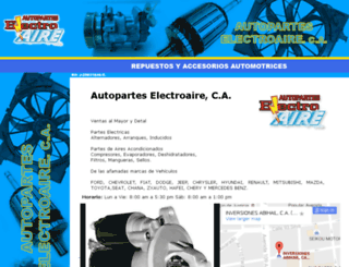 electroaire.dataautomotor.com screenshot