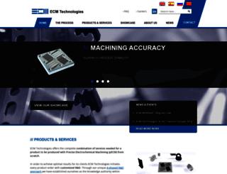 electrochemicalmachining.com screenshot