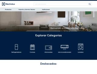electrolux.com.mx screenshot