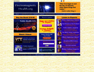 electromagnetichealth.org screenshot