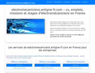 electromecaniciens.enligne-fr.com screenshot