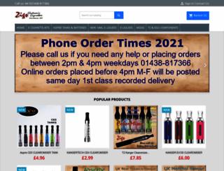 electroniccigarette.uk.com screenshot
