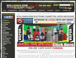 electroniccigarettesecig.com screenshot
