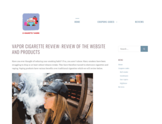 electroniccigarettetavern.com screenshot
