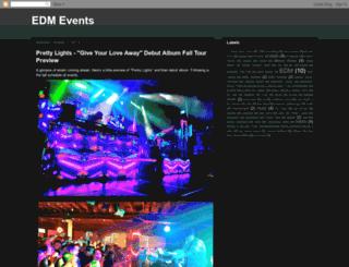 electronicdancemusicevents.blogspot.com screenshot