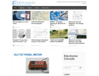 electronicecircuits.com screenshot