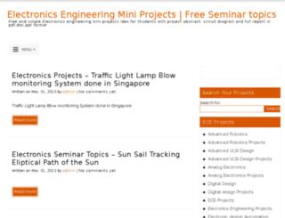 electronics.engineeringminiprojects.com screenshot