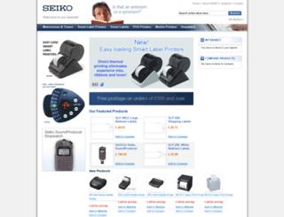 electronics.seiko.co.uk screenshot