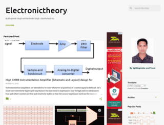 electronictheory.blogspot.com screenshot