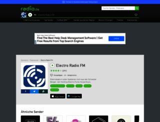 electroradio.radio.de screenshot