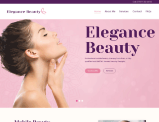 elegancebeautynuneaton.co.uk screenshot
