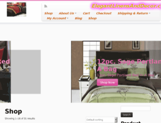 elegantlinensanddecor.com screenshot