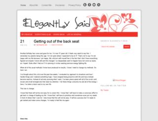 elegantlysaid.com screenshot