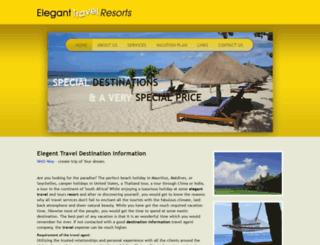 eleganttravelresorts.com screenshot