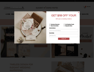elegantweddinginvites.com screenshot