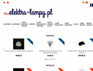 elektra-lampy.pl screenshot
