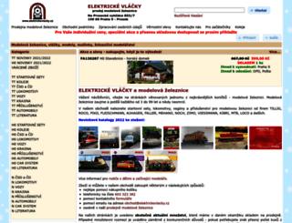 elektrickevlacky.cz screenshot