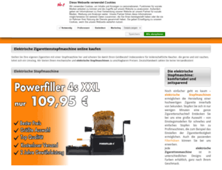 elektrische-zigarettenstopfmaschine.com screenshot