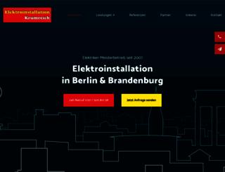 elektro-krumreich.de screenshot