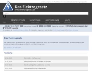 elektrogesetz.de screenshot