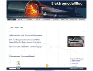 elektromodellflug.de screenshot