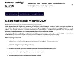 elektronicznaksiegawieczysta.pl screenshot