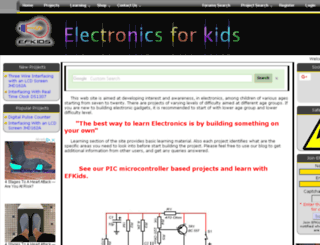 elektroniksforkids.com screenshot