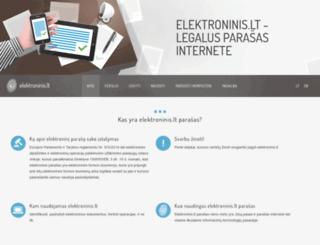 elektroninis.lt screenshot