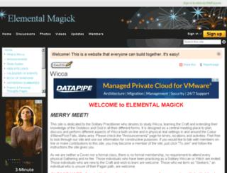elementalmagick.wikifoundry.com screenshot