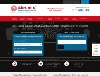 elementreplacement.co.uk screenshot