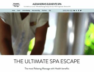 elementsspa.ca screenshot