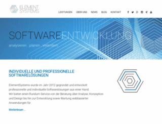 elementsystems.de screenshot