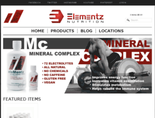 elementz-nutrition.myshopify.com screenshot