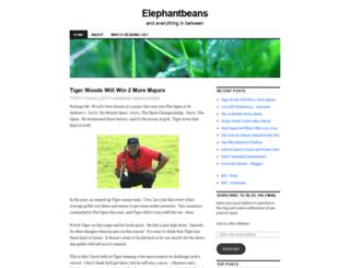 elephantbeans.wordpress.com screenshot