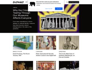 elephantmag.com screenshot