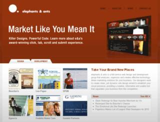 elephantsandants.com screenshot