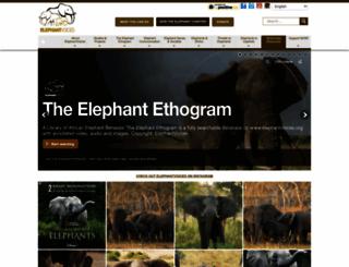 elephantvoices.org screenshot