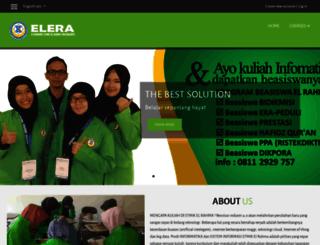 elera.stmikelrahma.ac.id screenshot