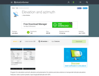 elevation-and-azimuth.droidinformer.org screenshot