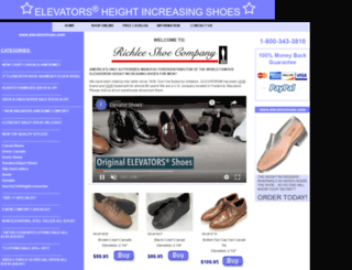 elevatorshoes.com screenshot