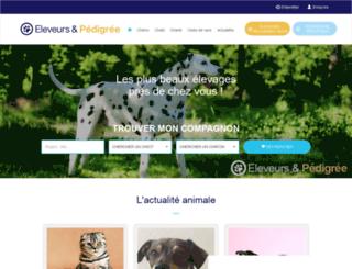 eleveurs-pedigree.com screenshot