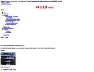 elexindia.co.in screenshot