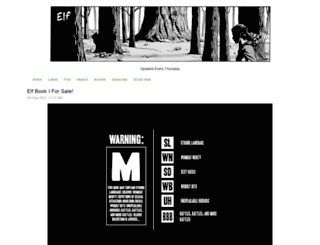 elf-comic.thecomicseries.com screenshot