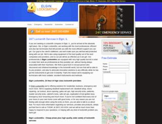 elginlocksmiths.biz screenshot