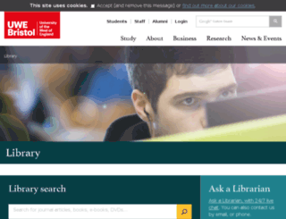 elibrary.uwe.ac.uk screenshot