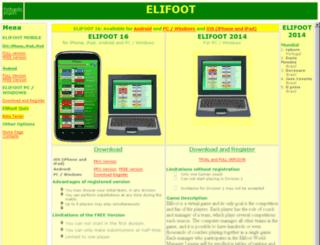 elifoot.net screenshot