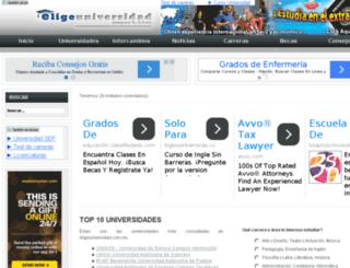 eligeuniversidad.com screenshot