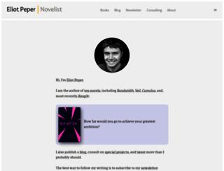 eliotpeper.com screenshot