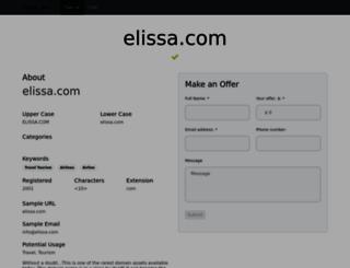 elissa.com screenshot