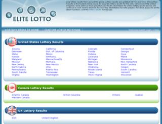 elite-lottery-results.com screenshot